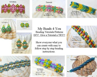 Bead Sale, MyBeads4You, Beading Tutorials, Beading Patterns, How to Bead, Beading Instructions, DIY Jewelry, Beads, Beaded Schemi, Jewelry