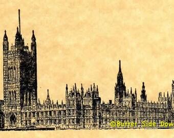 British Parliament Rubber Stamp