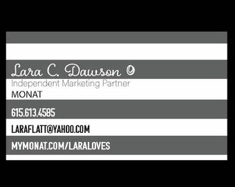 Printable Striped Bulk Business Cards