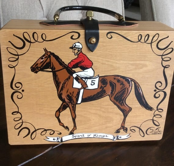 Enid Collins Purse - Kentucky Derby - Sport of Kings - NOS - Never Used - Original Tag - RARE