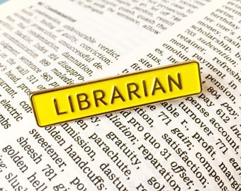 Librarian library Enamel Pin Badge - Book Lovers Brooch - Badge for Book Worm - Funny Pin Badge