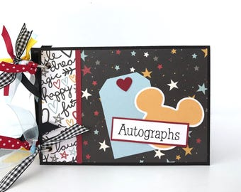 Disney-like Autograph Scrapbook Album DIY Kit or Premade Vacation 4x6 Mini Album