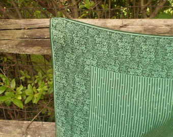 Scarf, Vera, Green, Silk, Rayon, Made in Japan, Classic Design, Preppy, Accessory, Vintage