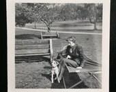 Original Vintage Photograph Dog Park