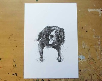 Custom Pet Portrait - Size A4 or A5 - Special Introductory Rate