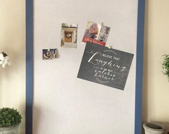 Bulletin Board - framed cork board - message board - organizer - pin board