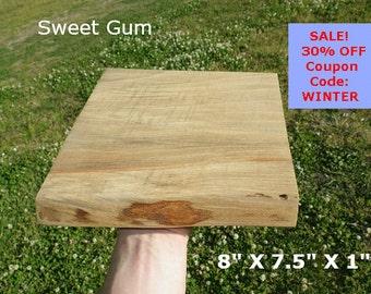 Live Edge Sweet Gum Wood Slab Finished DIY Floating Shelf, Natural Edge Shelving, Photo Ledge, Corner Shelf, Table Trivet, Trophy Shelf 0110
