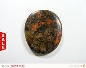 Rare Myrickite Cinnabar Designer Cabochon, Gemstone cabochon, natural, flat back (my001)
