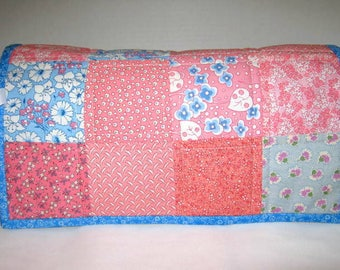 Thirties  Patchwork Quilted Small Sewing Machine Dust Cover, Embroidery Machine Cover Protector