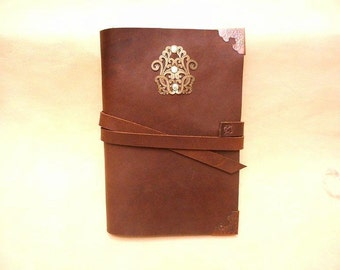 Journal-Stoned Oil Leather