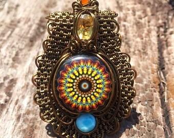 Orgone Mini - Copper Wire Wrap Collab w/ Caterina Suttin Designs -EMF Blocker -Chakra Balancing - Hand Made