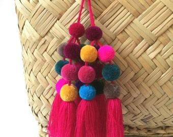 POMPOM TASSEL ACCESSORY - handmade in Mexico