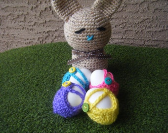 Crocheted Easter Egg Cozy's - Sold in Sets of 2