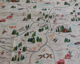 Sugar Mountain Trail / Natural - Alexander Henry Fabric 1 Yard