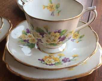 Royal albert vintage bone china tea cup trio
