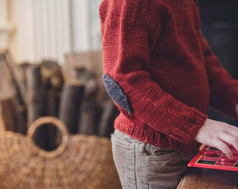 Patches Pullover (knitting pattern)