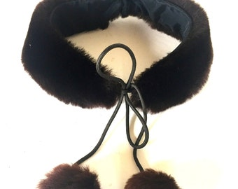 Antique Victorian fur collar - small / children