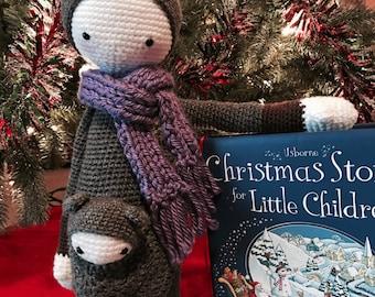 Crochet Toy, Kangaroo, Baby Shower Gift