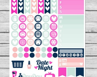Me Time Funtional Planner Stickers