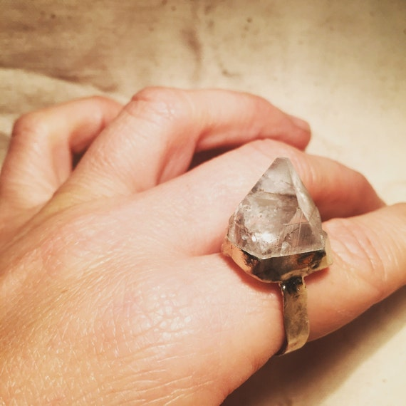 Icehouse silver statement ring
