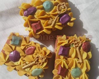 Regal-Cold Process Decoden Style Soap with All Natural Melt & Pour Decorations-Lush Sultana Dupe Scent
