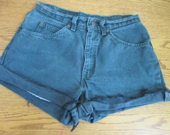 LEVI'S Vtg 562 Student Cutoff Jean Shorts size 29 Waist ORANGE TAG Levi's green  Free Shipping!!