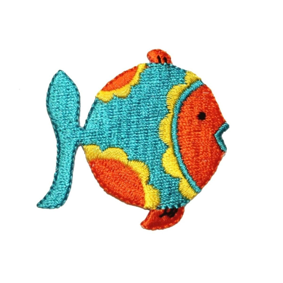 Id 0187 tropical fish patch fishing diy craft embroidered iron for Iron in fish