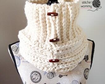 Starlight Button Cowl - Crochet Pattern