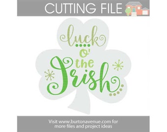 Luck o' the Irish cut file for Cricut, Silhouette, Instant Download (eps, svg, gsd, dxf, ai, jpg, and png)