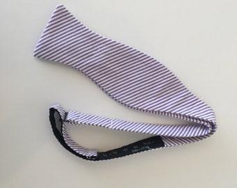 Men and Teen's Lilac Lavender Seersucker Bow Tie