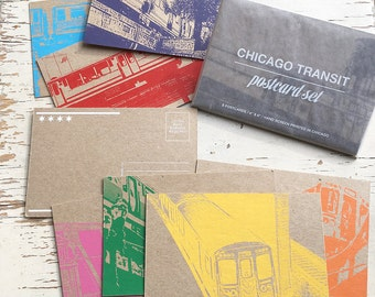 Chicago Transit Postcard set