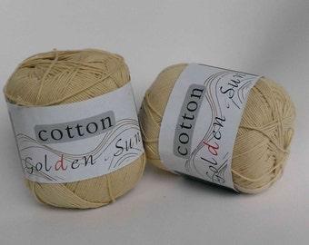 Ecru(Khaki) Cotton Yarn. Crochet Yarn. Knitting Yarn.Baby Yarn. 50G 100% Cotton.