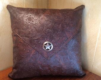 Western Pillow, Southwest Pillow, Western Decor, Southwest Decor, Star Concho, Western Concho, Accent Pillow, Ranch Decor, Rustic Pillow