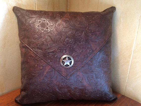 Western Pillow, Southwest Pillow, Western Decor, Southwest Decor, Star Concho, Western Concho, Accent Pillow, Ranch Decor, Rustic Pillow