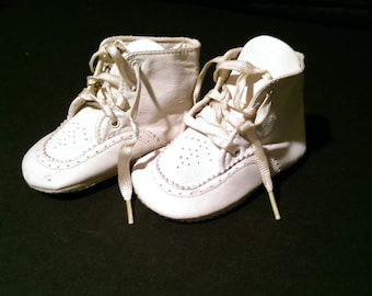 Vintage Soft Leather Baby Shoes Size 1 Like New