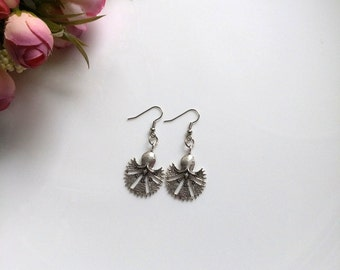 Silver earrings, Silver wedding Jewelry, Clove earrings, Valentines day, Mothers day gift