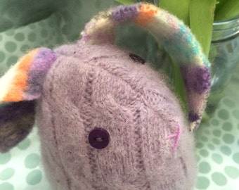 felted wool sweater bunny