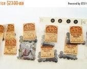 ON SALE Lot Of Black Buttons For Crafts Or Sewing, 249 Buttons, Assorted Sizes, Doll Eyes, Sewing, Matte Finish, Supplies, Crafting