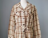 Plaid Jacket / Vtg 70s / ...