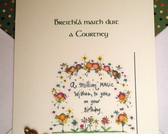 Irish Birthday Card with your own Personal Greeting. Available only when you place another order.
