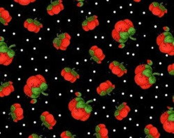 Pin Cushion Fabric - Sew Fabulous - Pin Dots Black - Cotton Fabric - Loralie Designs - SEW-03