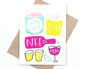 sympathy card - whatever you need