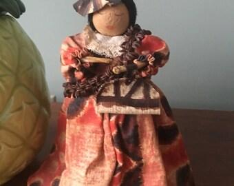 A sweet popular Hawaiian doll display from the 1970's.