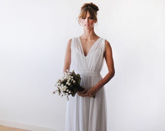 Ready To Wear Wedding Gown, 2 In One Wedding Gown, Chiffon And Lining Bridal  Gown, Minimal Wedding Dress 1090 BLUSHFASHION