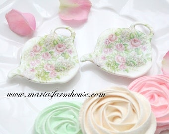 Vintage Tea Bag Holders, Set of 2, Made in Italy, Tea for Two, Gifts for Her