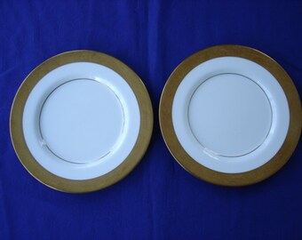 Two Mikasa Harrow Dessert/Bread Plates