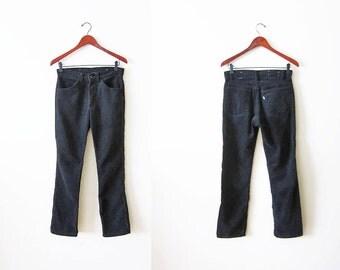 Black Levis Corduroy Pants / Straight Leg / Vintage Levi's Pants / Levis 28