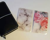 Marbled Roses Traveler's Notebook dashboard