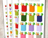 Rainbow Grocery Bags, XL, Large, Small or Mini - Perfect for Erin Condren, Limelife, Mambi and Plum Paper Planners