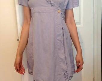 Biologique Eco Lilac Hemp Dress